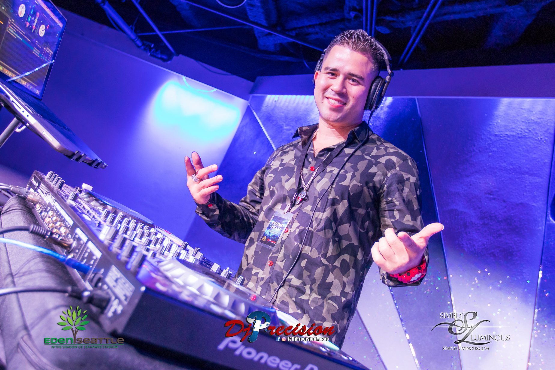 DJ Precision at Eden Nightclub in Seattle.